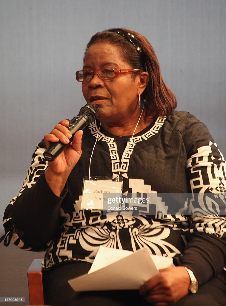 Barbara Young speaks during a panel at The Ford Foundation Hosts Day Of Discussion On The Hidden World Of Domestic Work In The US at Ford Foundation on November 27, 2012 in New York City.