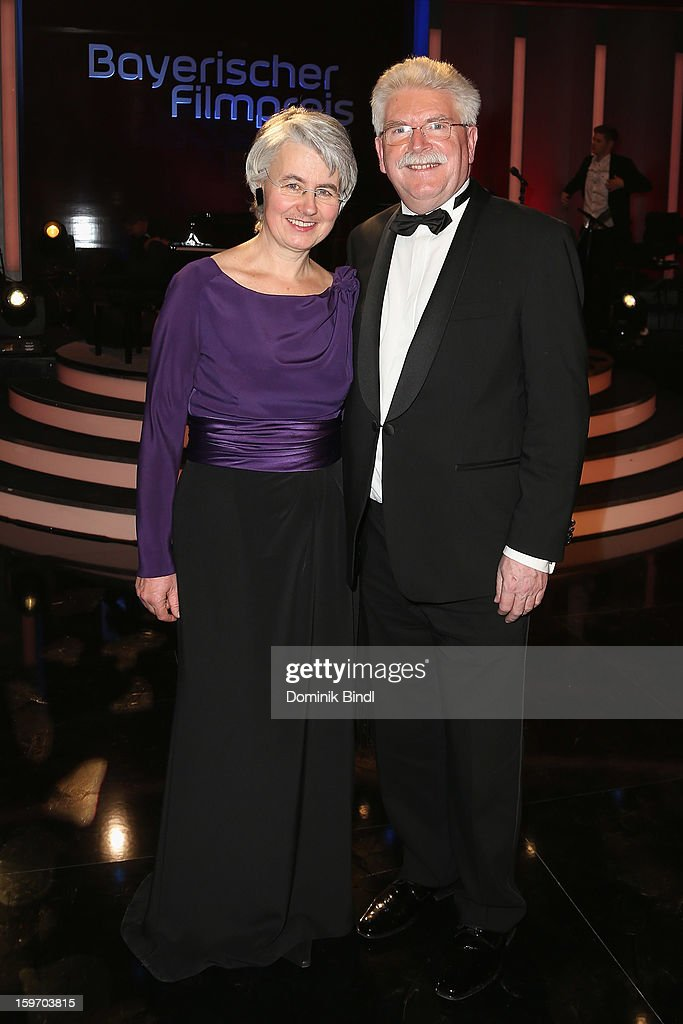 Barbara Zeil and Martin Zeil attend the Bavarian Movie Awards 2013 after party on January 18, 2013 in Munich, Germany.