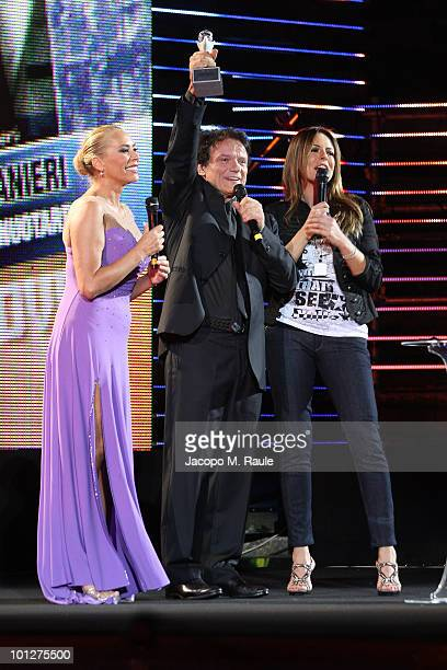 Barbare De Rossi Massimo Ranieri Paola Perego attend the 2010 Wind Music Awards on May 29 2010 in Verona Italy