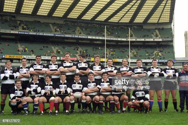 Barbarians team group including Martin Bayfield Mick Skinner and Stuart Barnes Scott Gibbs Will Carling and Tony Underwood