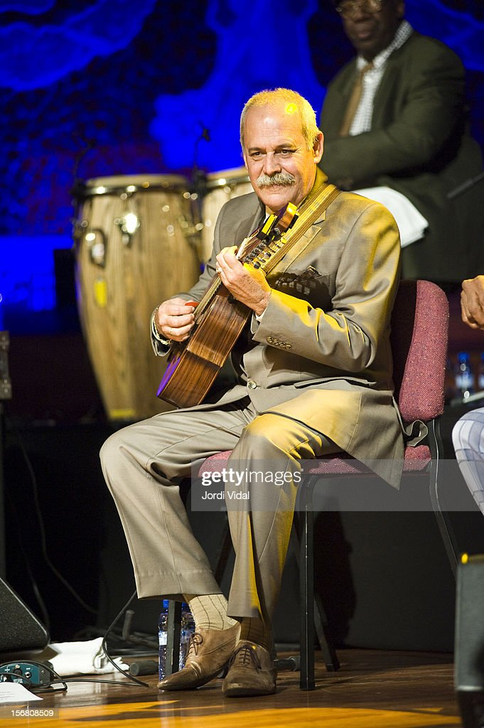 Barbarito Torres of Orquesta Buena Vista Social Club performs on stage during Voll-Damm Festival Internacional de Jazz de Barcelona at Palau De La Musica on November 21, 2012 in Barcelona, Spain.