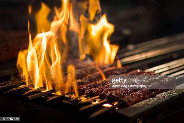 Barbecue Beef Kebabs
