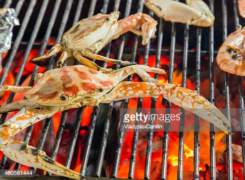 Barbecue delicious grilled seafood : Stock Photo