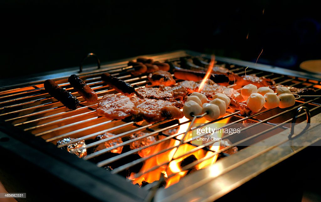 Barbecue food on the grill : Stock Photo