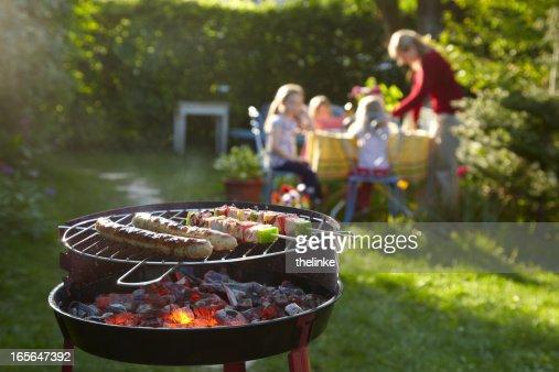 Barbecue sur une soirée d'été