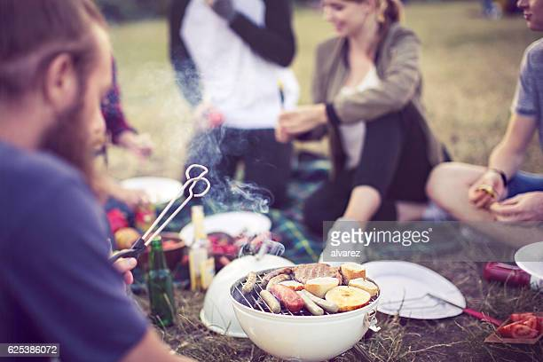 Barbecue party in a park