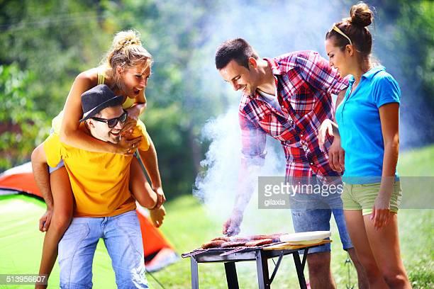 Soirée Barbecue de pique-nique.