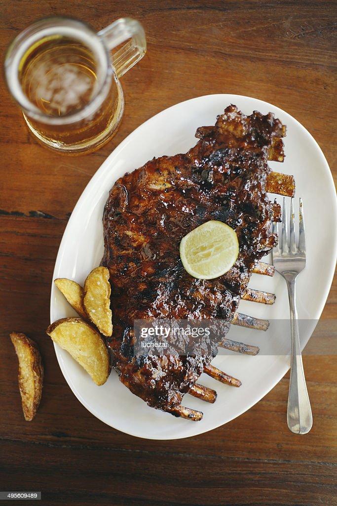 Barbecue pork ribs : Stock Photo
