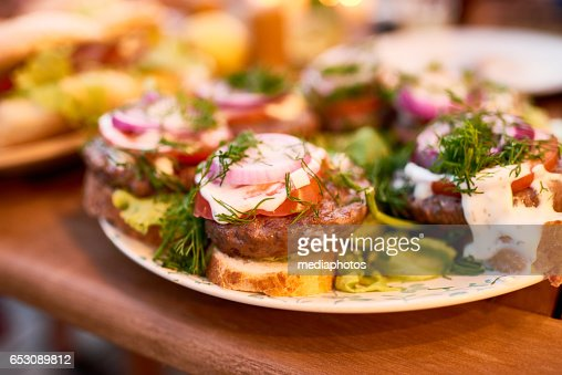 Grill sandwiches : Stock-Foto