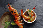 Barbecue shrimp and spicy sauce