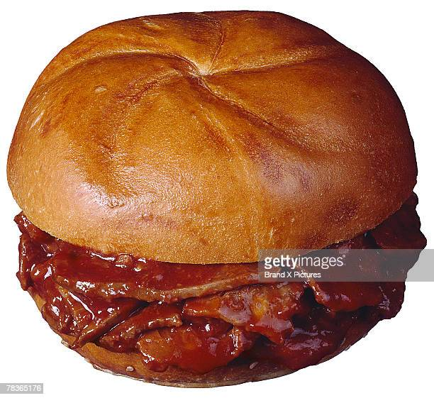 Barbecued beef sandwich