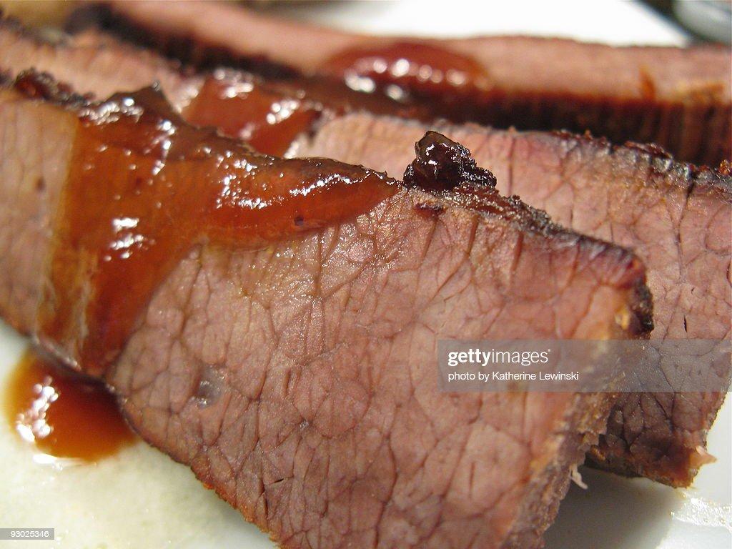 Barbecued brisket : Stock Photo