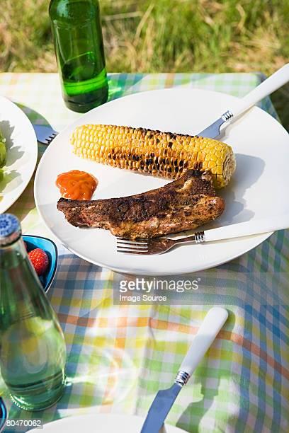 Barbecued food