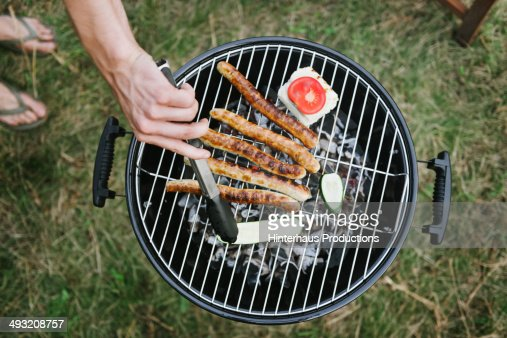Barbeque Grill With Sausages