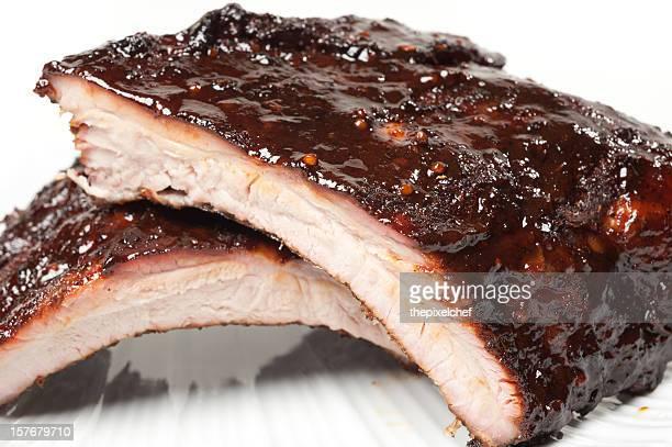 Barbecue Pork Babyback Ribs mit würziger-Glasur
