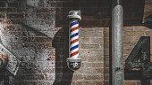 Barber shop, barber shop sign, hair salon, sign, store sign, pole, barber pole