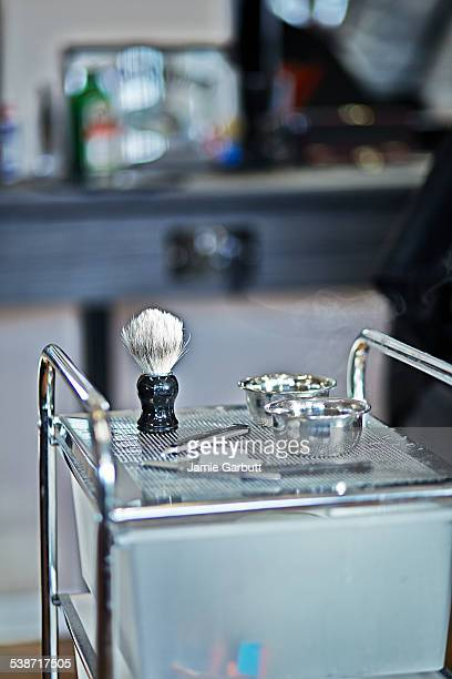 Barber shop shaving kit ready to be used