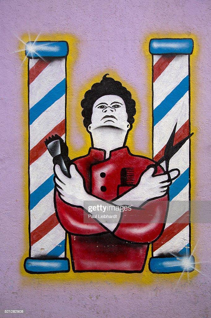 Barbershop Wall Drawing