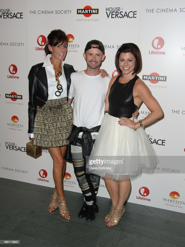 Barbet Smith, Derek Roche and Amy Salinger attends Marvista Entertainment And Lifetime With The Cinema Society Host A Screening Of 'House Of Versace' at MOMA on October 3, 2013 in New York City.
