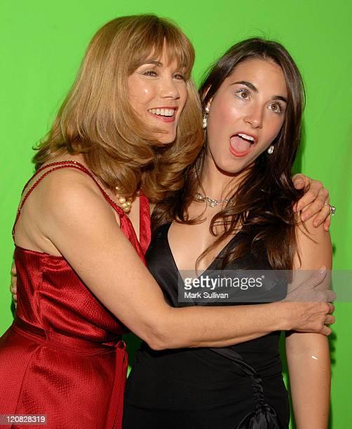 Barbi Benton and daughter Adriana Gradow during Backstage Creations at the 5th Annual TV Land Awards at Barker Hangar in Santa Monica California...
