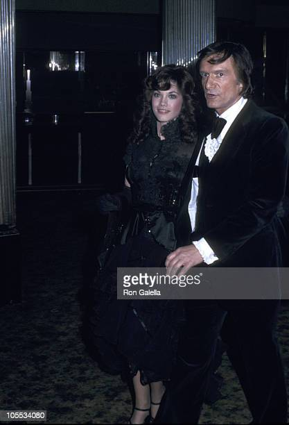 Barbi Benton and Hugh Hefner during Playmate of the Year Awards at Aquarious Theater in Hollywood California United States