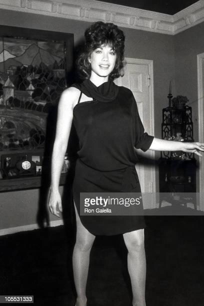 Barbi Benton during Barbi Benton Hosts Party at Pegfair Mansion January 21 1984 at Pegfair Mansion in Pasadena California United States