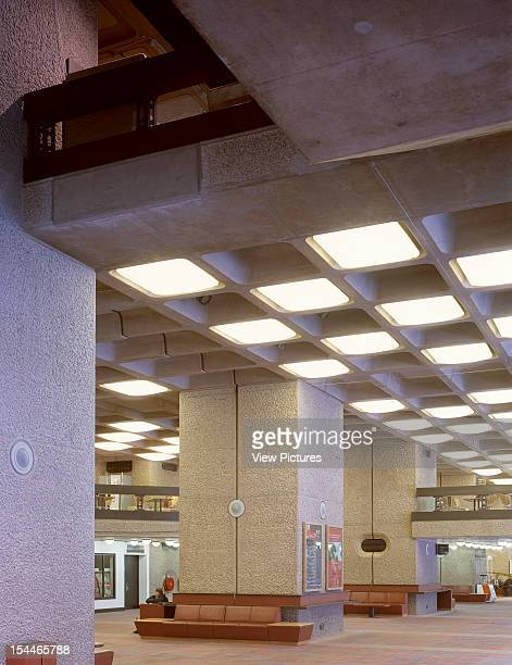 Barbican Estate 1982 London United Kingdom Architect Chamberlin Powell And Bon Barbican Estate 1982 Lobby Interior With Coffered Ceiling And Fill In...