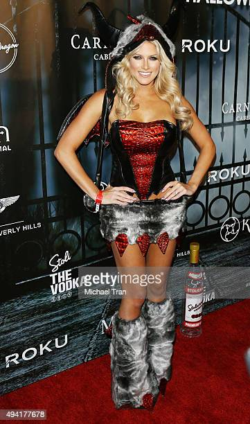 Barbie Blank arrives at the 2015 MAXIM Magazine's official Halloween Party held on October 24 2015 in Beverly Hills California