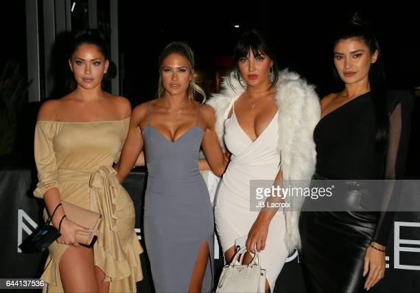 Barbie Blank Natalie Halcro Olivia Pierson and Nicole Williams attend the OK Magazine's Annual PreOscar Event on February 22 2017 in Los Angeles...