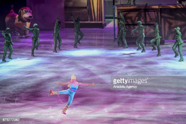 Barbie character performs during the Disney on Ice show at Tauron Arena Krakow Poland on the November 17 2017 Disney on Ice is a show through the...