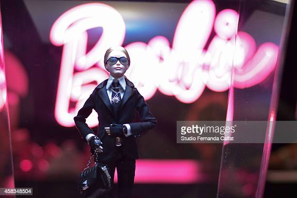 Barbie Doll is displayed in the Barbie Experience during Sao Paulo Fashion Week Winter 2015 at Porao das Artes on November 3 2014 in Sao Paulo Brazil