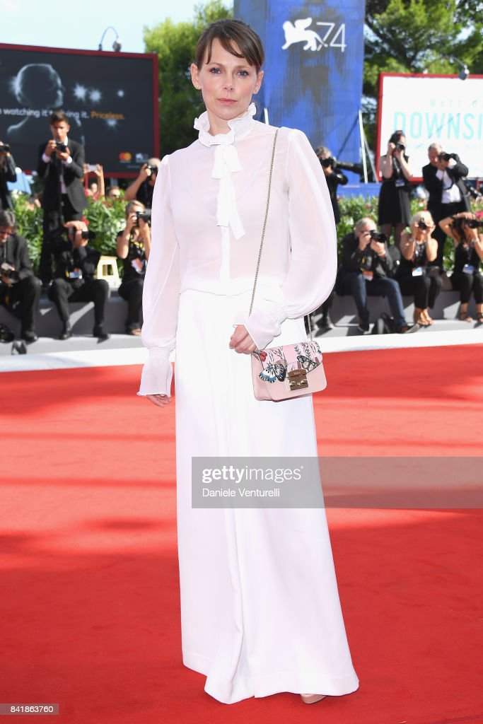 Barbora Bobulova from the 'Diva!' movie walks the red carpet ahead of the 'Foxtrot' screening during the 74th Venice Film Festival at Sala Grande on September 2, 2017 in Venice, Italy.
