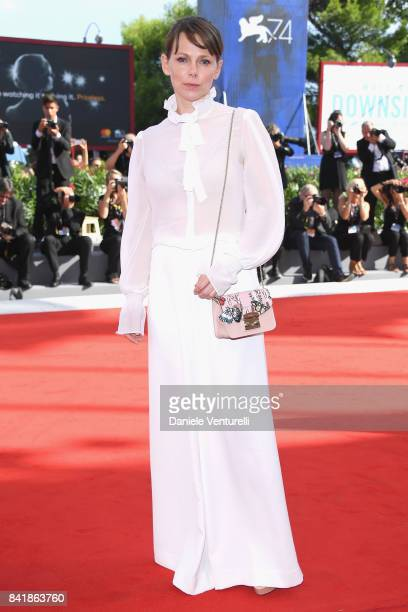 Barbora Bobulova from the 'Diva' movie walks the red carpet ahead of the 'Foxtrot' screening during the 74th Venice Film Festival at Sala Grande on...