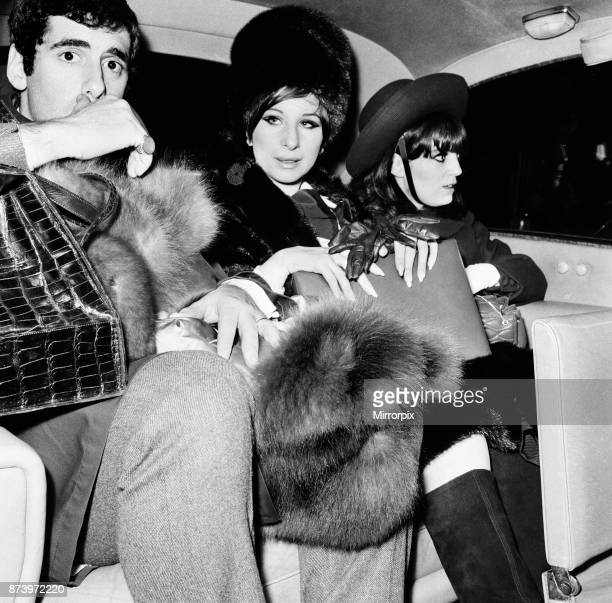 Barbra Streisand Actress and Singer arrives at London Heathrow Airport 17th March 1966 She is in the UK to star in her Broadway Show Funny Girl which...