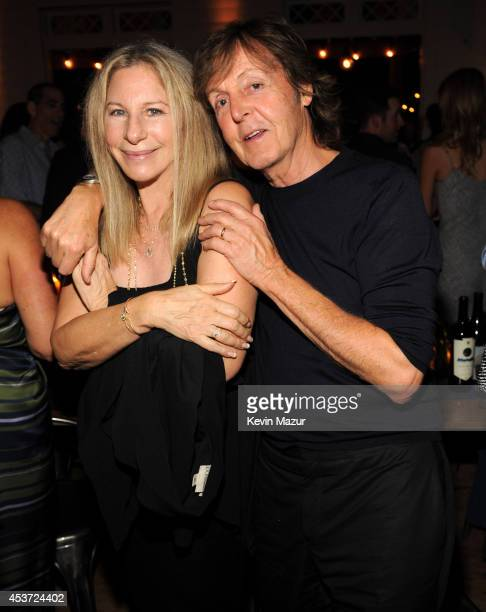 Barbra Streisand and Paul McCartney attend Apollo in the Hamptons at The Creeks on August 16 2014 in East Hampton New York