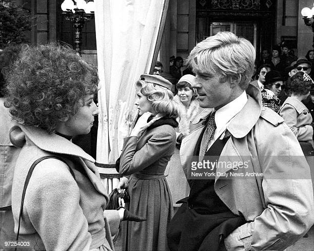 Barbra Streisand and Robert Redford at the Plaza Hotel during filming of 'The Way We Were'