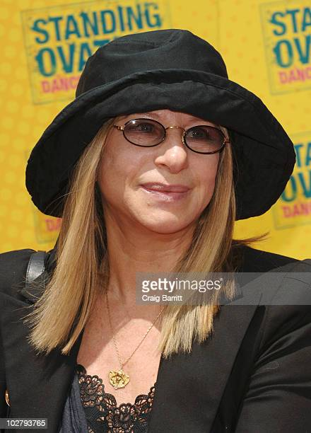 Barbra Streisand arrive at the 'Standing Ovation' Los Angeles Premiere at Universal CityWalk on July 10 2010 in Universal City California