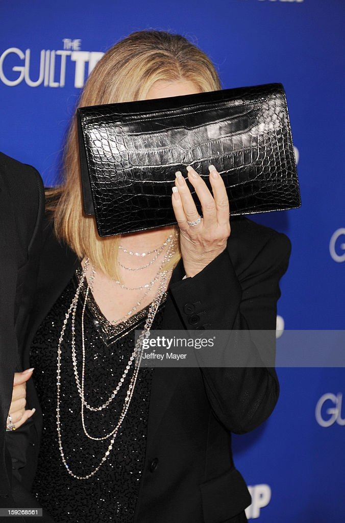 Barbra Streisand arrives at the 'The Guilt Trip' - Los Angeles Premiere at Regency Village Theatre on December 11, 2012 in Westwood, California.