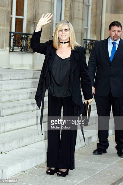 Barbra Streisand attends a formal ceremony at the Elysee Palace where she will be inducted into France's Legion of Honour on June 28 2007 in Paris...