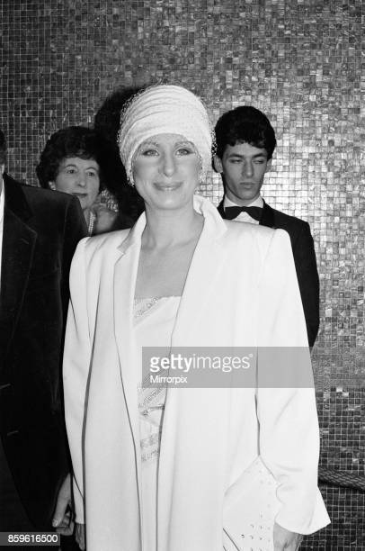 Barbra Streisand attends the Royal Charity Premiere of Yentl at the Leicester Square Theatre 29th March 1984