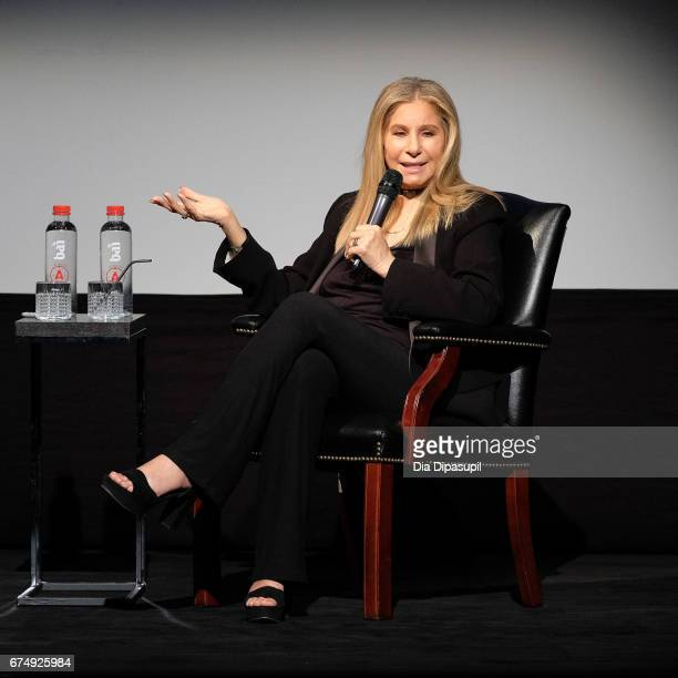 Barbra Streisand attends Tribeca Talks Barbra Streisand with Robert Rodriguez during the 2017 Tribeca Film Festival at BMCC Tribeca PAC on April 29...