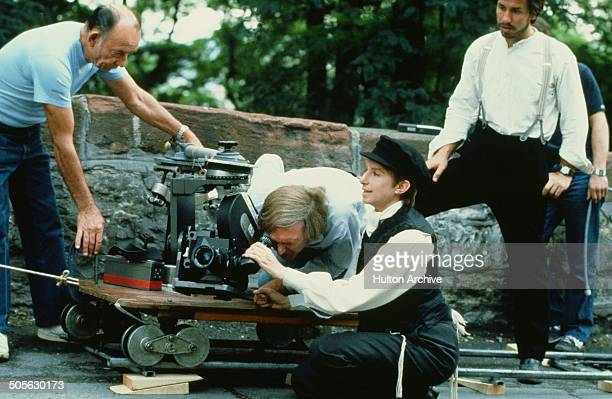 Barbra Streisand behind the scenes of the movie 'Yentl' circa 1983