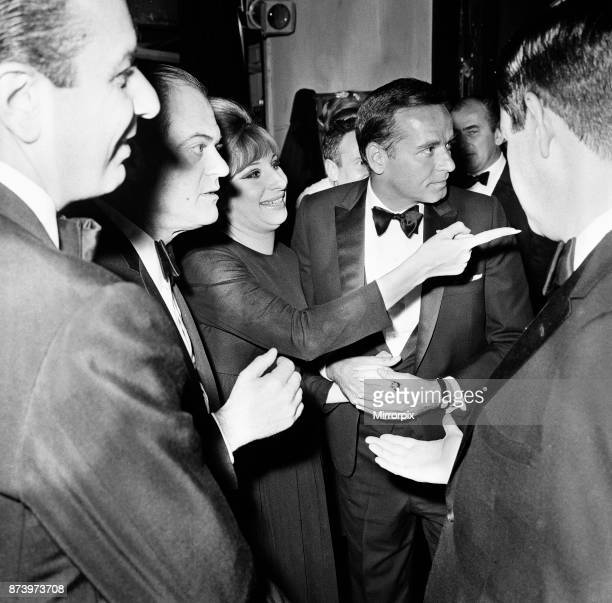 Barbra Streisand Champagne reception after West End premiere of Funny Girl Prince of Wales Theatre London 13th April 1966