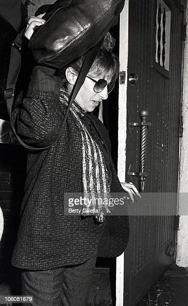 Barbra Streisand during Barbra Streisand and Jon Peters in Hollywood California March 13 1985 at Sushi On Sunset in Hollywood California United States