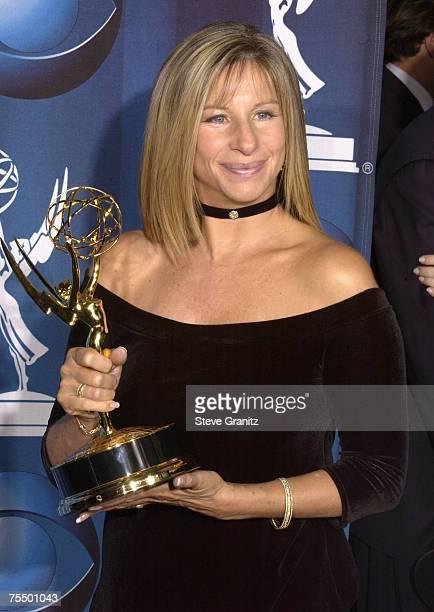 Barbra Streisand holds her Emmy Award for Best Performance in a Variety or Musical Program for Fox's 'Barbra Streisand Timeless' during the 53rd...
