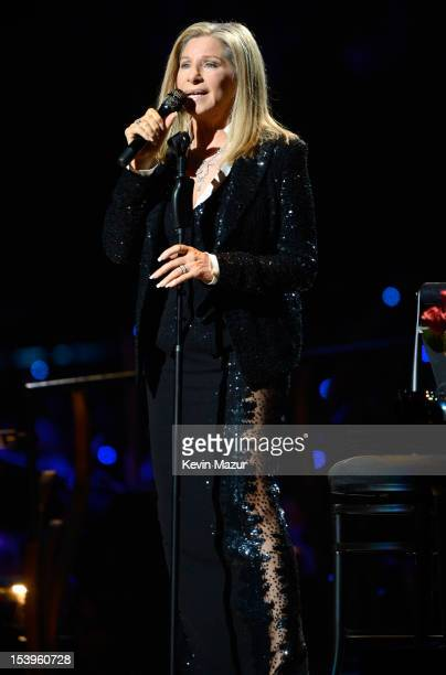 Barbra Streisand performs at Barclays Center of Brooklyn on October 11 2012 in New York New York