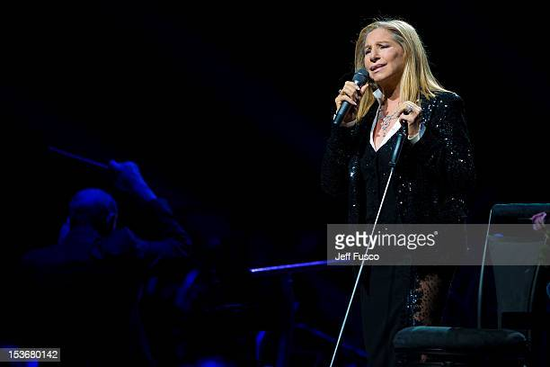 Barbra Streisand performs on the opening night of her 'Back To Brooklyn' tour at the Wells Fargo Center on October 8 2012 in Philadelphia Pennsylvania