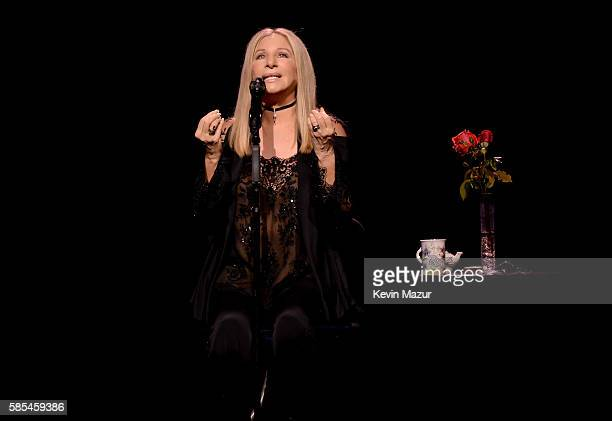 Barbra Streisand performs onstage during the tour opener for 'Barbra The Music The Mem'ries The Magic' at Staples Center on August 2 2016 in Los...