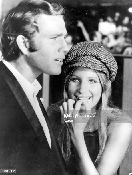Barbra Streisand with Ryan O'Neal her costar in 'What's Up Doc' directed by Peter Bogdanovich for Saticoy / Warner Brothers