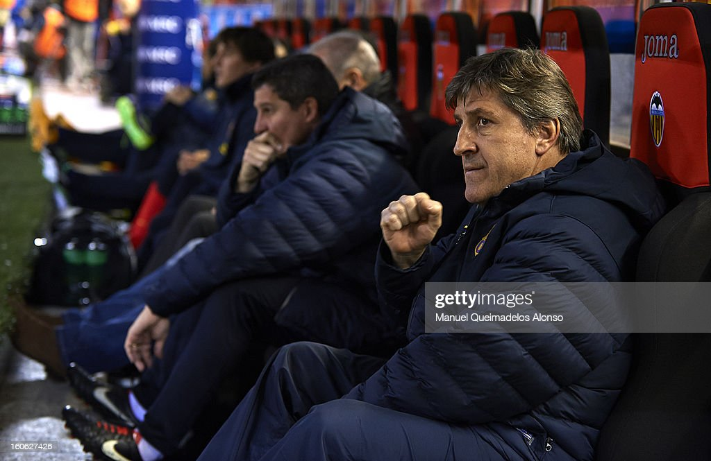 FC Barcelona assistant coach Jordi Roura looks on during the La Liga match between Valencia and Barcelona Estadio Mestalla on February 3, 2013 in Valencia, Spain.